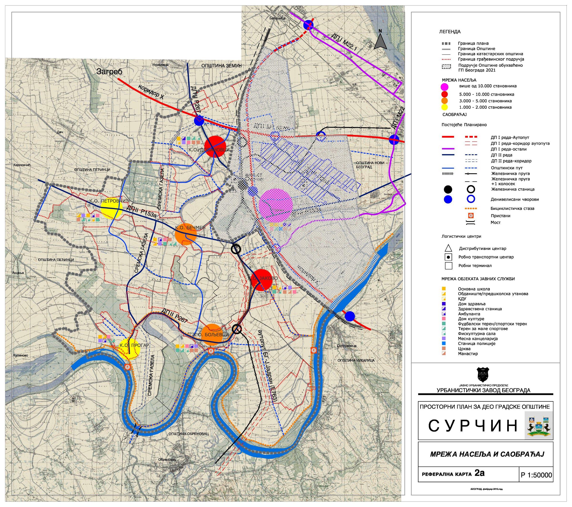 Mape I Prostorni Planovi Gradske Opstine Surcin Opstina Surcin